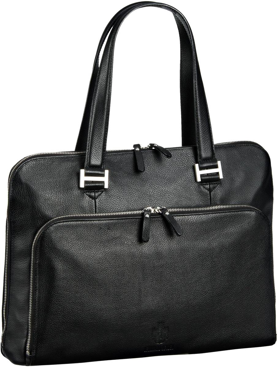 Businesstaschen für Frauen - Leonhard Heyden Montpellier 2511 Businesstasche Schwarz Aktentasche  - Onlineshop Taschenkaufhaus