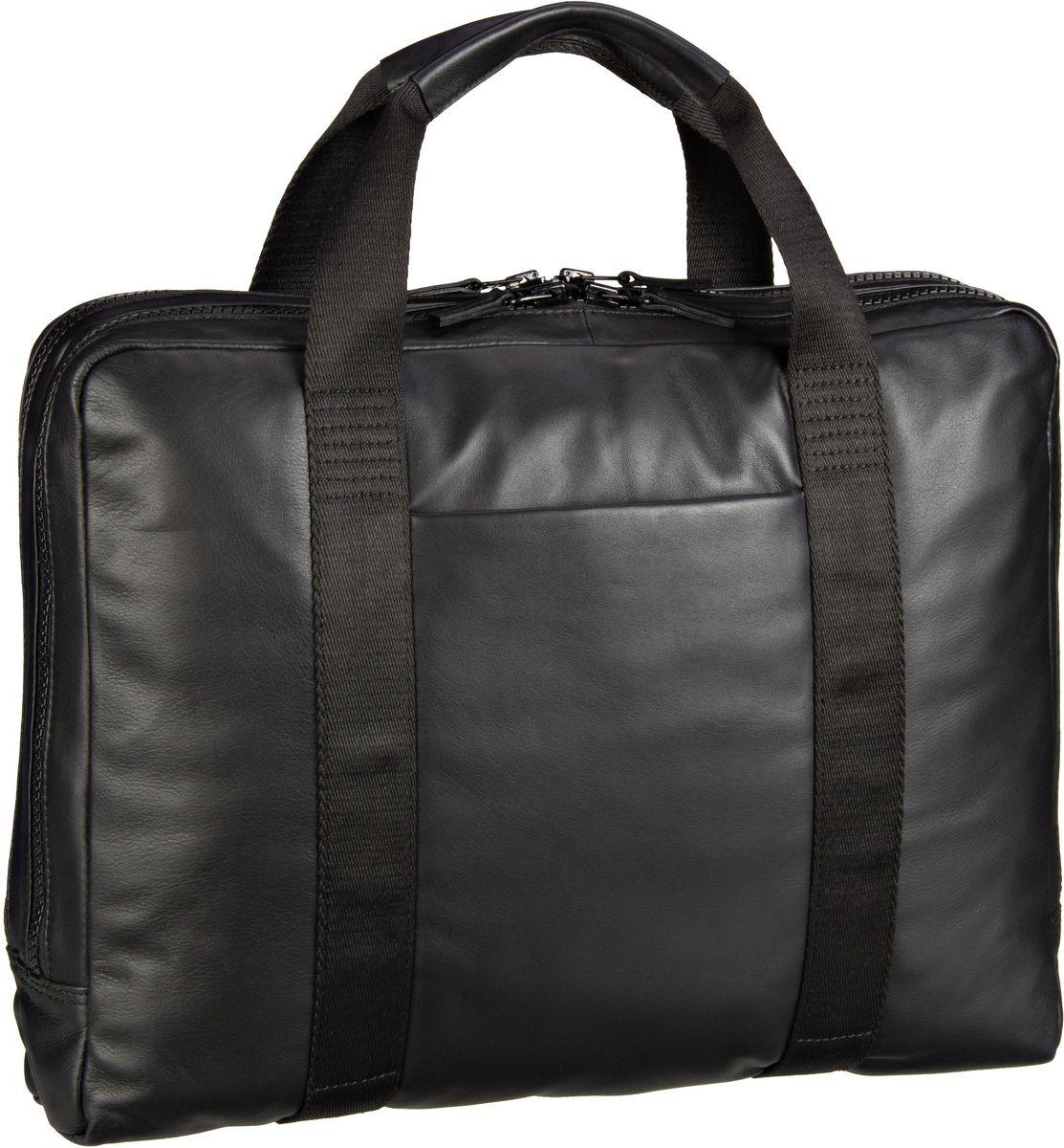 Businesstaschen für Frauen - Leonhard Heyden Aktentasche Long Island 6705 Kurzgrifftasche L 2 Fächer Schwarz  - Onlineshop Taschenkaufhaus