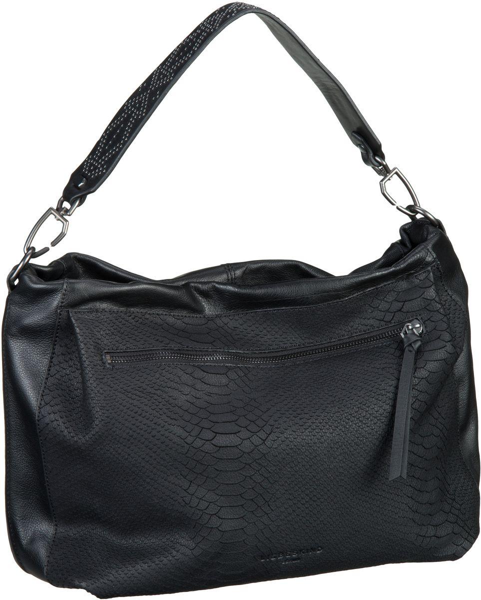 Liebeskind Berlin Handtasche Miramar Python Oil Black - Beuteltasche / Hobo Bag, Beuteltaschen, Handtaschen 5011933001