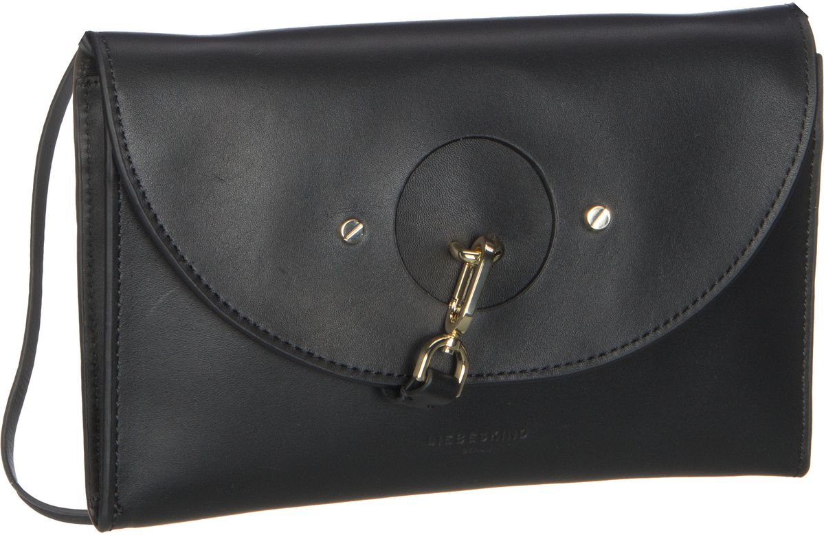 Berlin Handtasche ClutchS Round Flap Vachetta Black