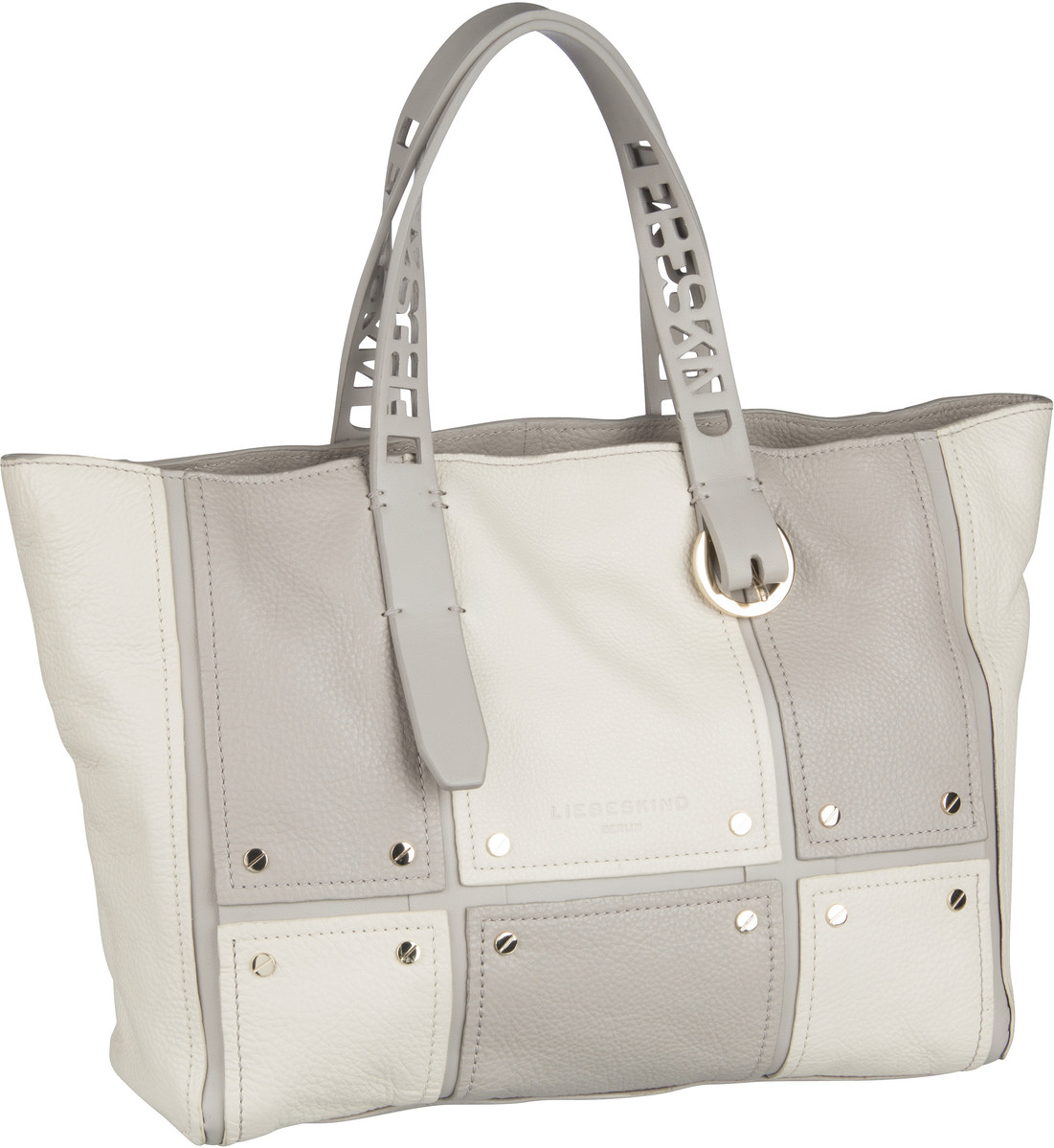 Berlin Handtasche Mix N'Patch Pebble Tote M String Grey