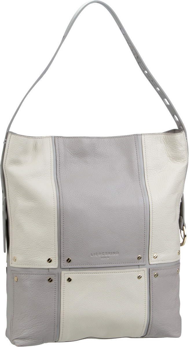 Berlin Beuteltasche Mix N'Patch Pebble Hobo M String Grey