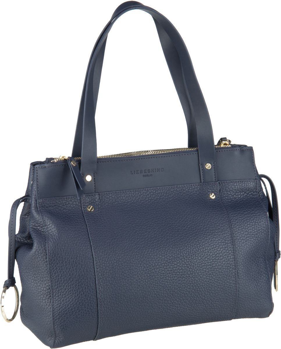 Berlin Handtasche Shopper M Pebble Navy Blue