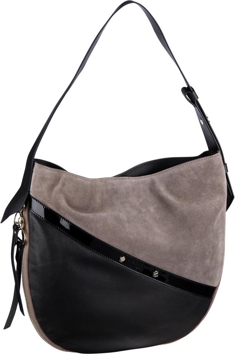 Handtaschen für Frauen - Liebeskind Berlin Handtasche Helmet Patent Hobo M Cold Grey  - Onlineshop Taschenkaufhaus
