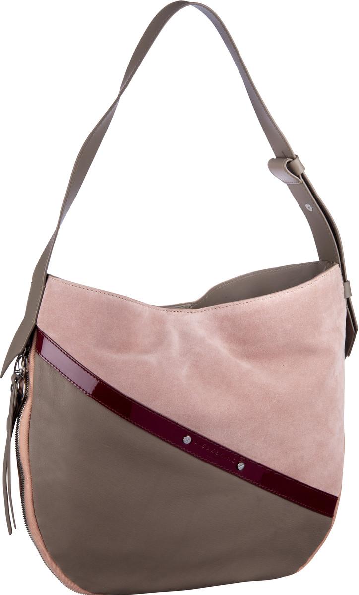 Handtaschen für Frauen - Liebeskind Berlin Handtasche Helmet Patent Hobo M Tuscany Beige  - Onlineshop Taschenkaufhaus