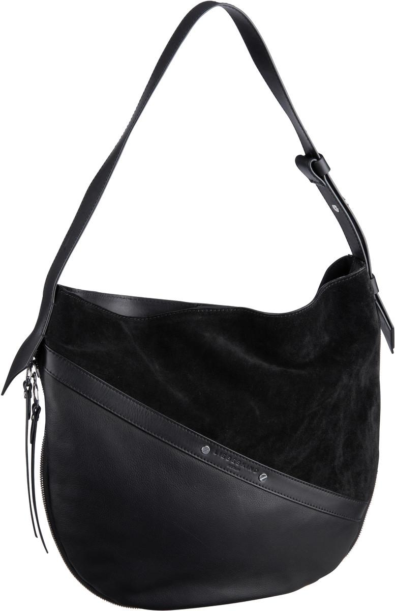 Handtaschen für Frauen - Liebeskind Berlin Handtasche Helmet Hobo M Black  - Onlineshop Taschenkaufhaus