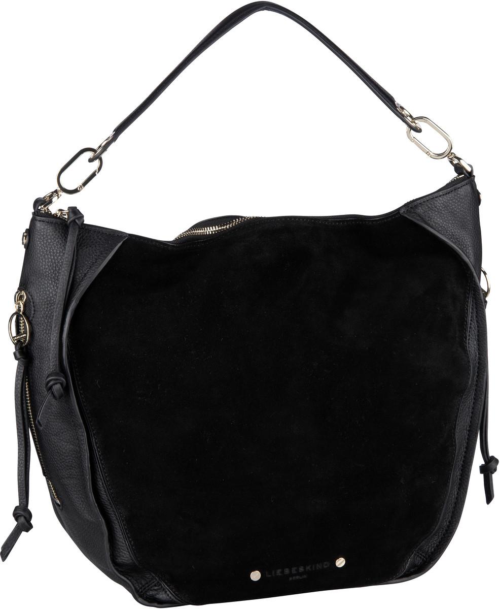 Berlin Handtasche Saddy Suede Crossbody M Black