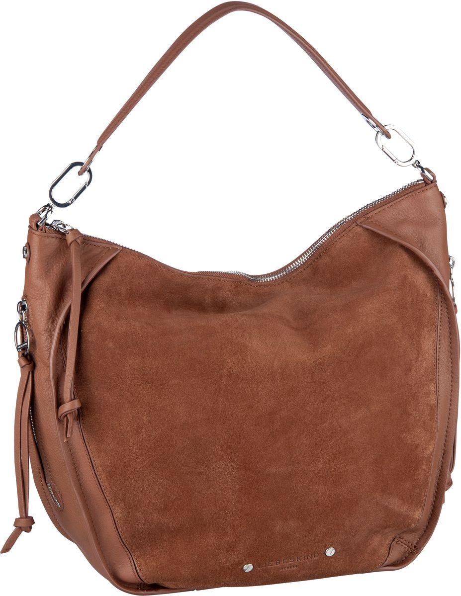 Handtaschen für Frauen - Liebeskind Berlin Handtasche Saddy Suede Crossbody M Bourbon  - Onlineshop Taschenkaufhaus
