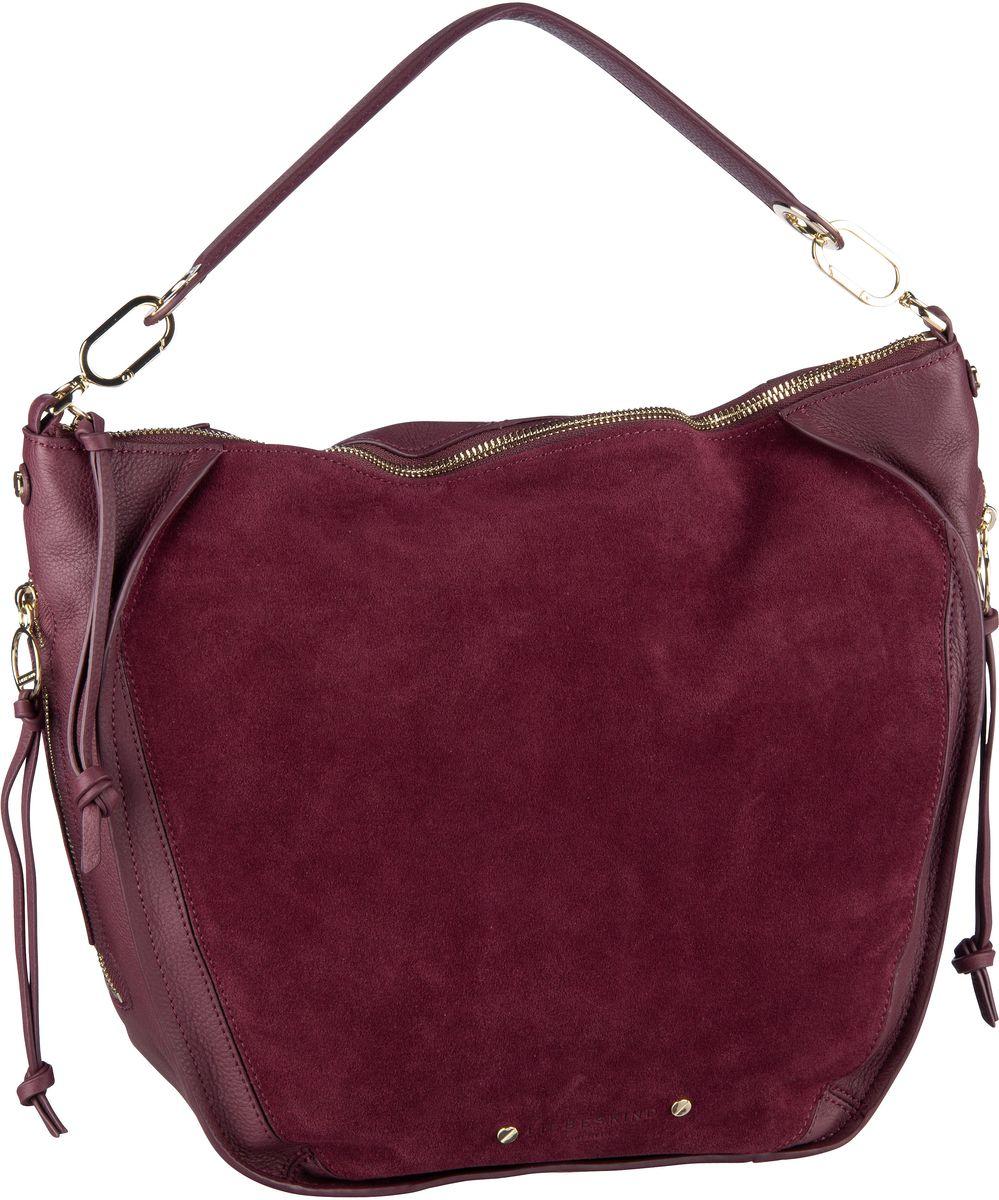 Handtaschen für Frauen - Liebeskind Berlin Handtasche Saddy Suede Crossbody M Royale Plum  - Onlineshop Taschenkaufhaus