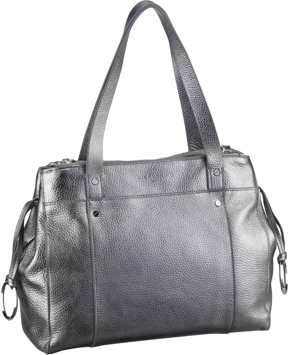 Berlin Handtasche Shopper 2 M Iron Silver