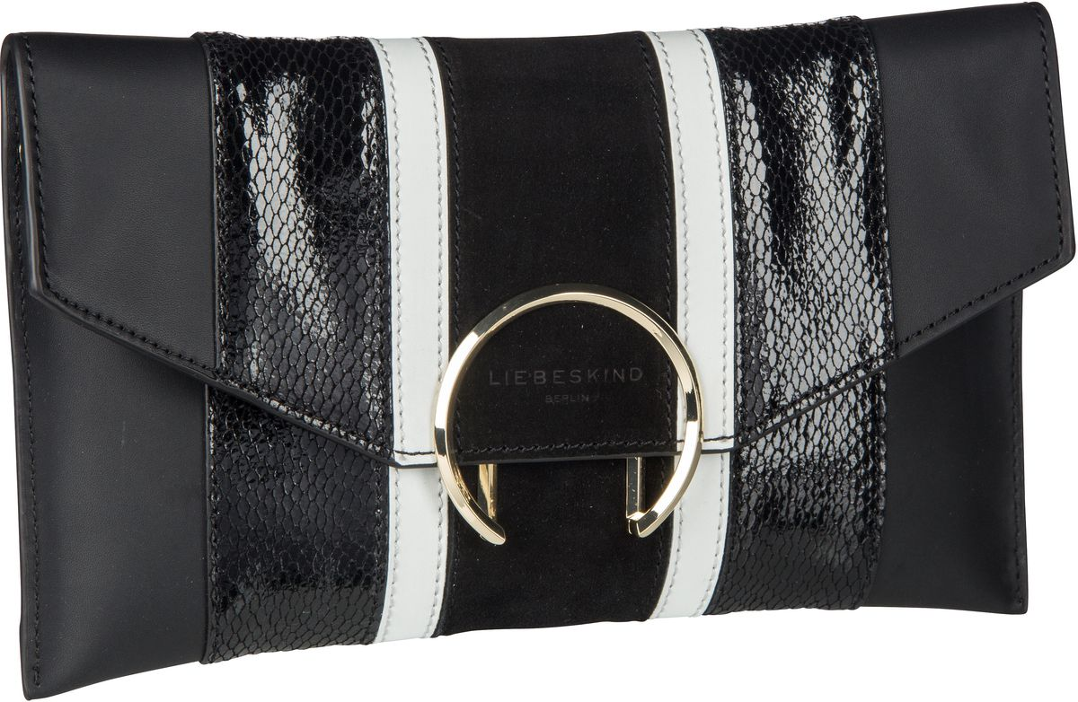 Berlin Handtasche Fancy Clutch M Black/Black/White