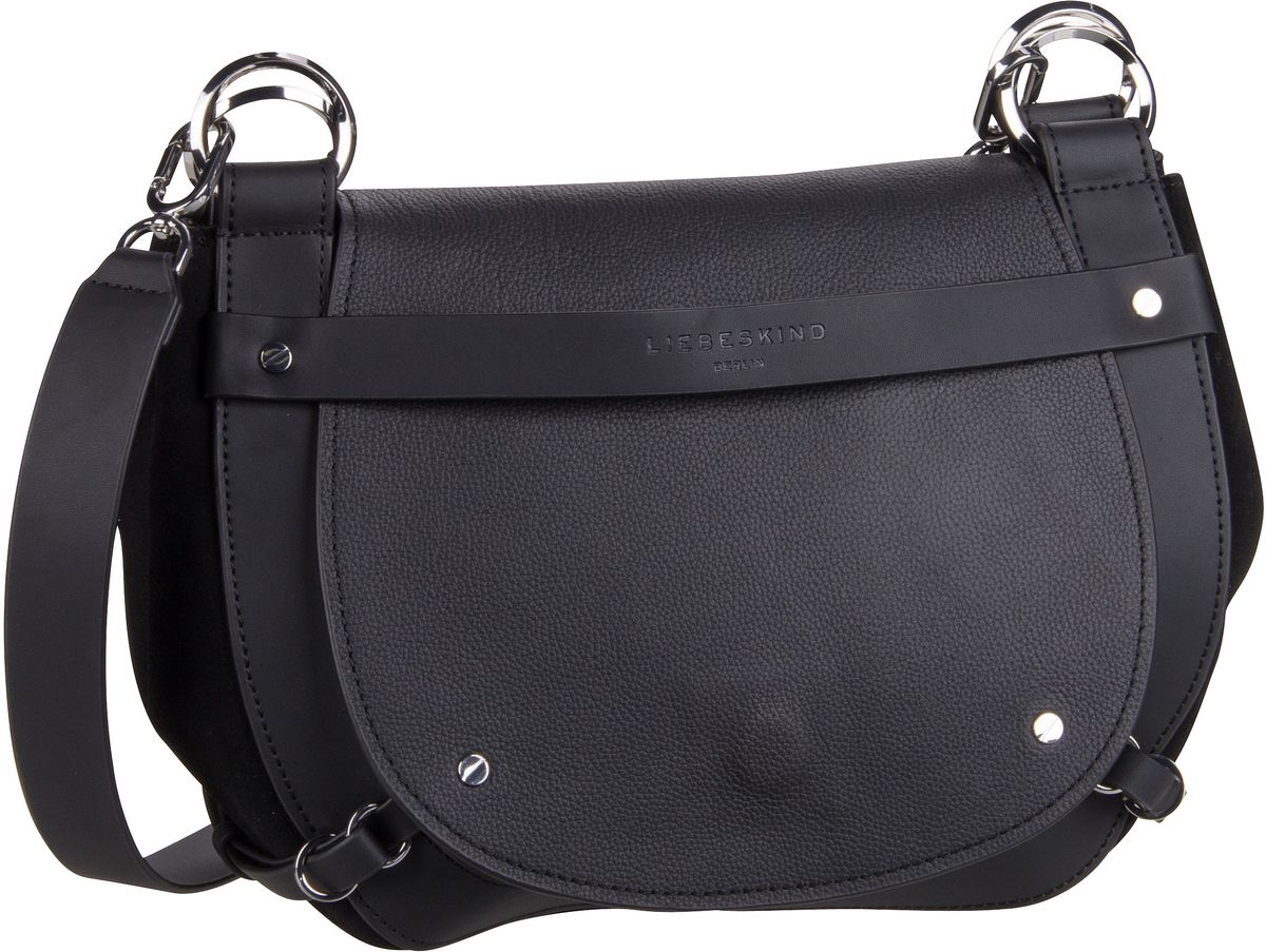 Liebeskind Berlin Umhängetasche New Saddle Crossbody M Black