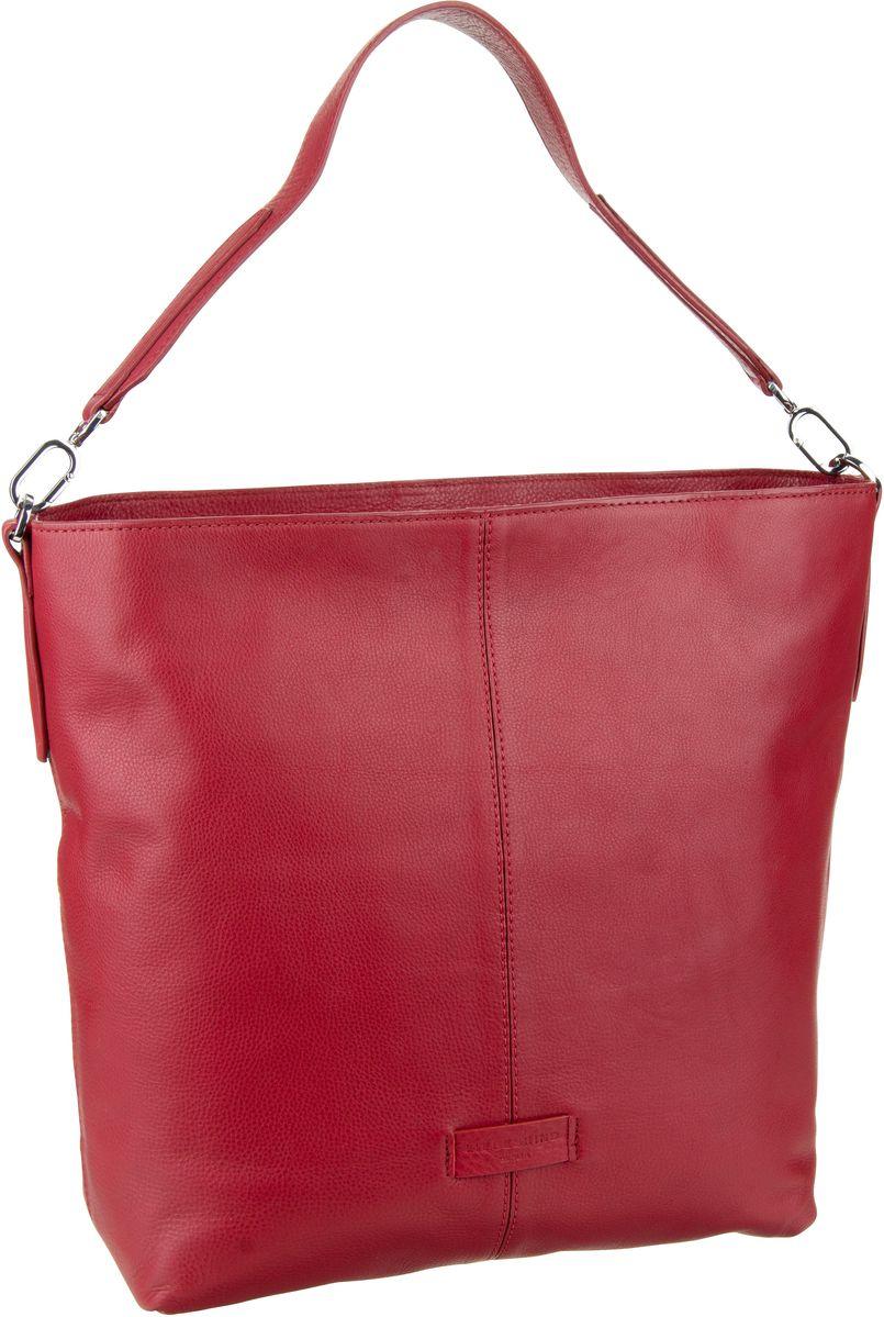 Berlin Handtasche Essential Hobo M Italian Red