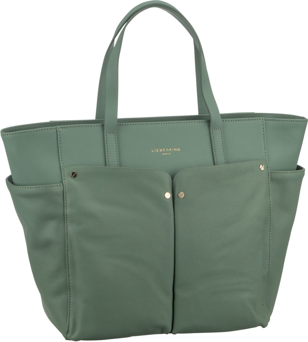 Shopper für Frauen - Liebeskind Berlin Shopper Duo Shopper L Hedge Green  - Onlineshop Taschenkaufhaus