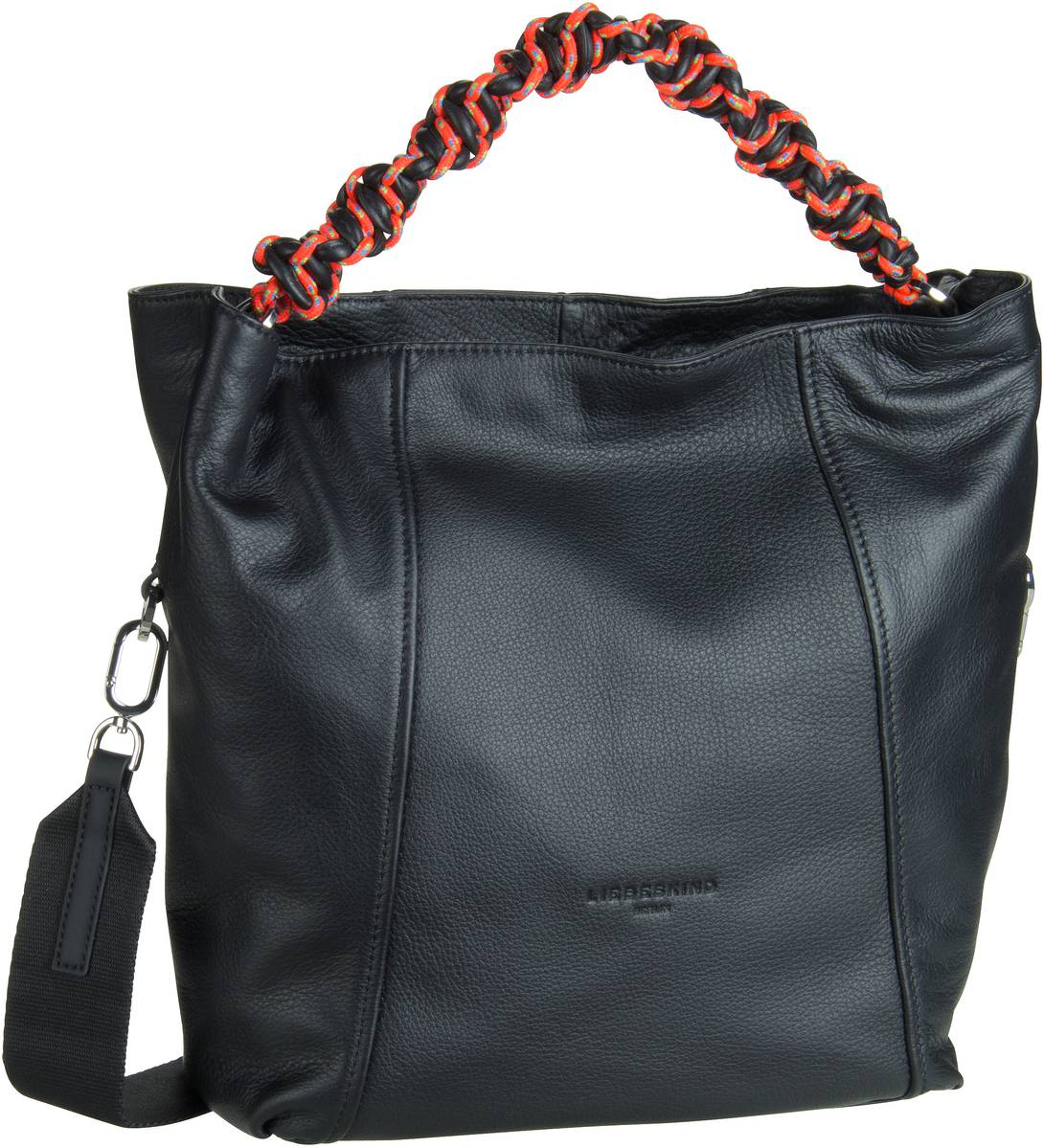 Berlin Handtasche Scuba Hobo M Black (innen: Minze)