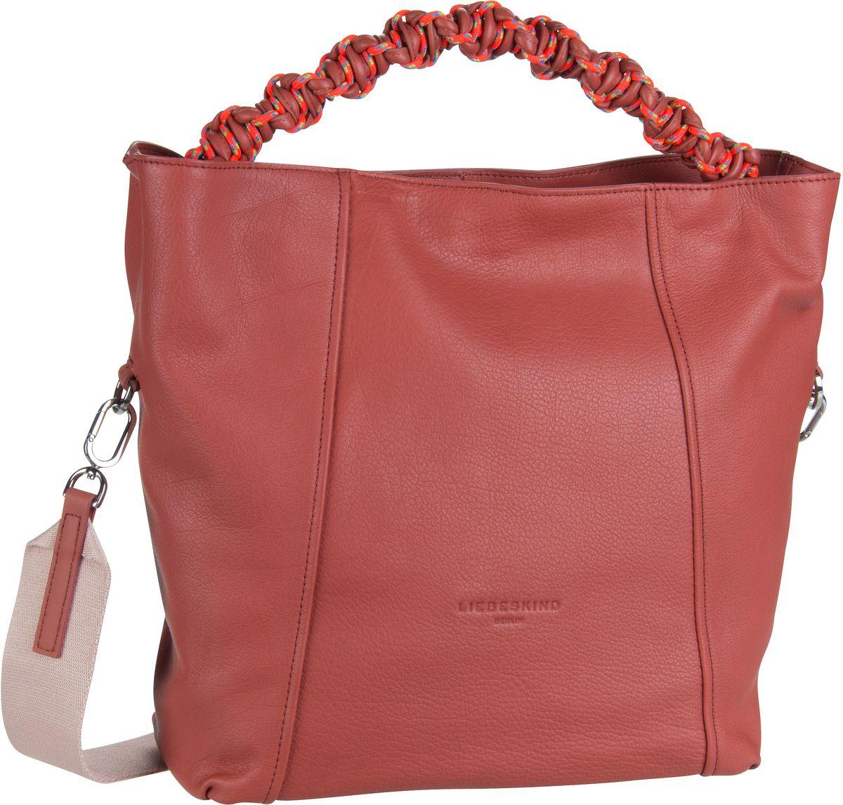 Berlin Handtasche Scuba Hobo M Hot Red (innen: Minze)