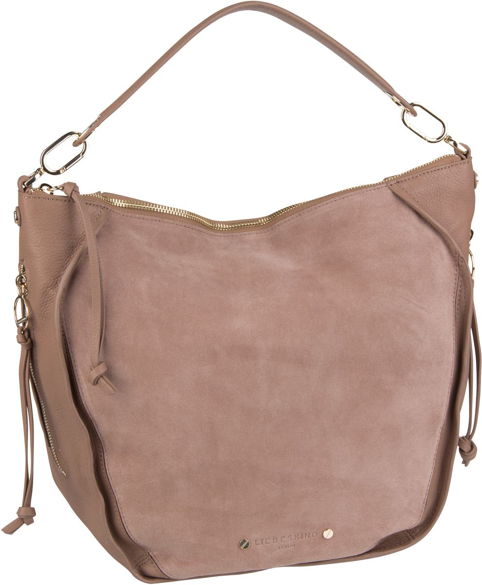 Berlin Beuteltasche Saddy Suede Crossbody M Tiger Beige