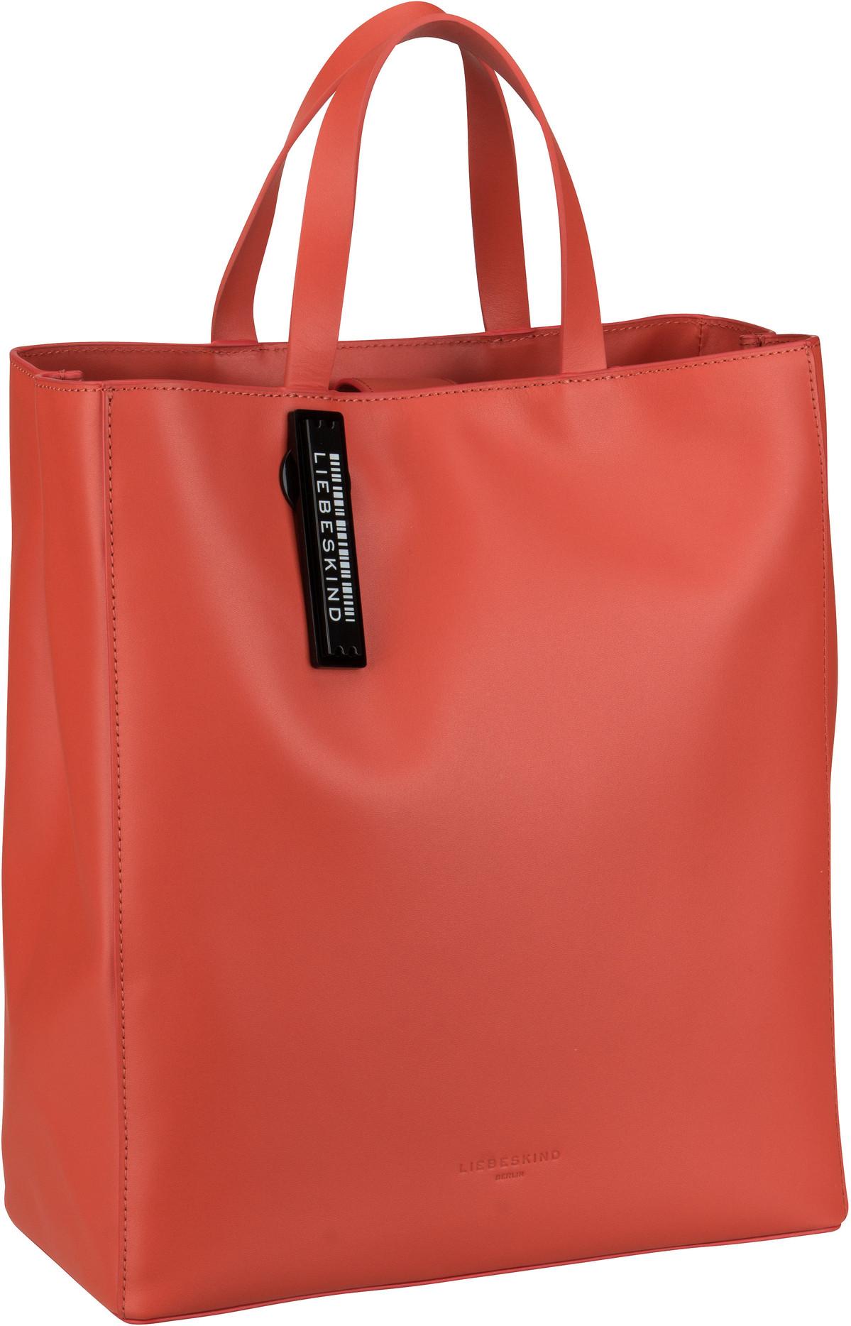 Berlin Handtasche Paper Bag Tote M Poppy Red