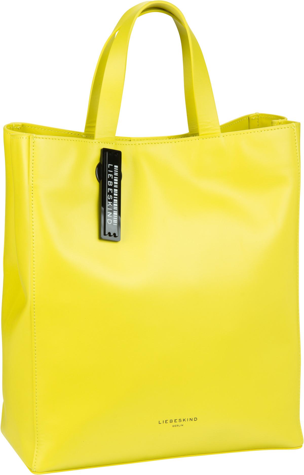 Berlin Handtasche Paper Bag Tote M Yellow Sheen