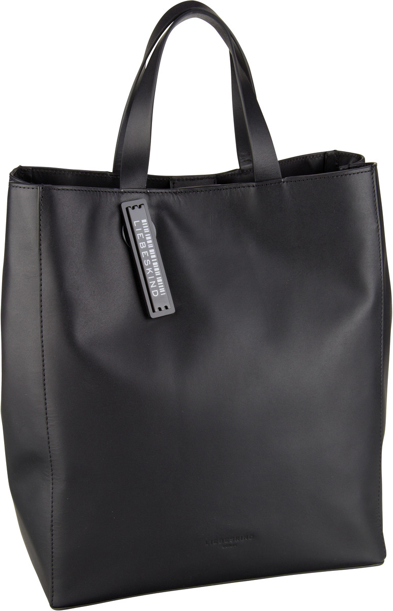 Berlin Handtasche Paper Bag Tote M Black