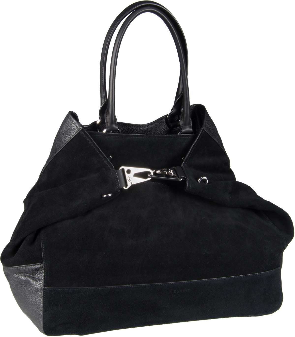 Berlin Handtasche Folded Tote L Black