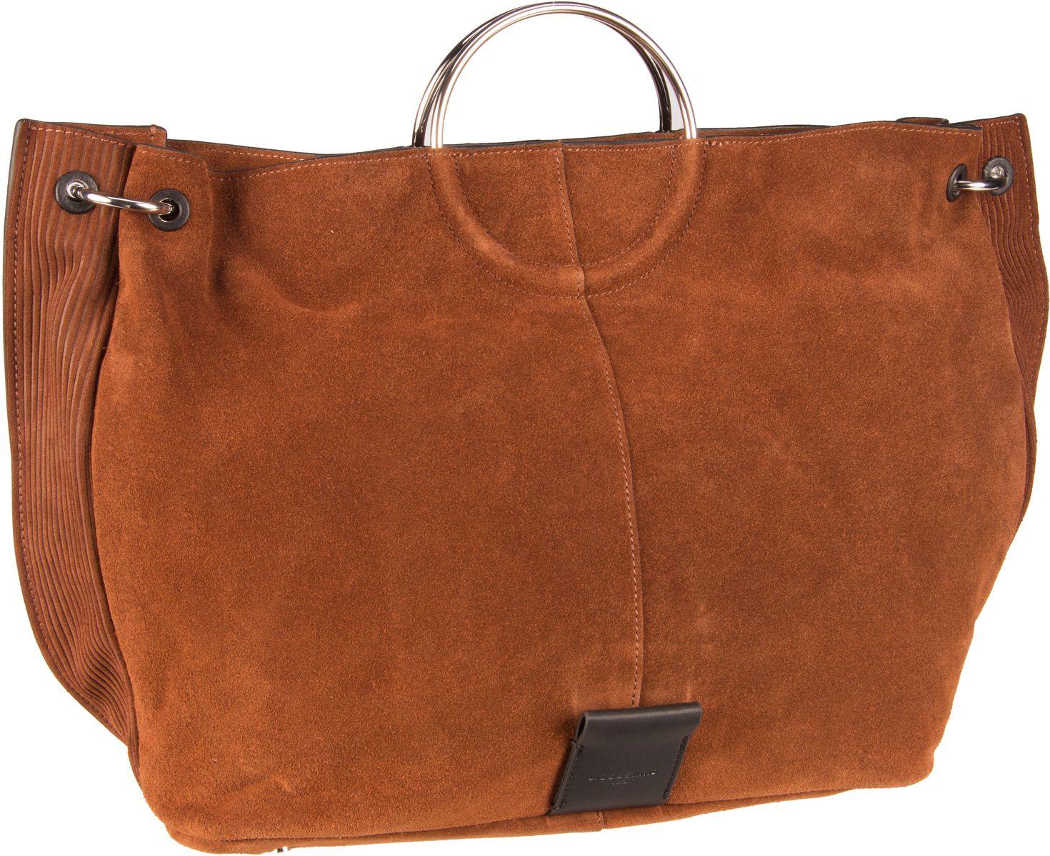 Berlin Handtasche Neo Amalfi Genova Shopper L Suede Toffee