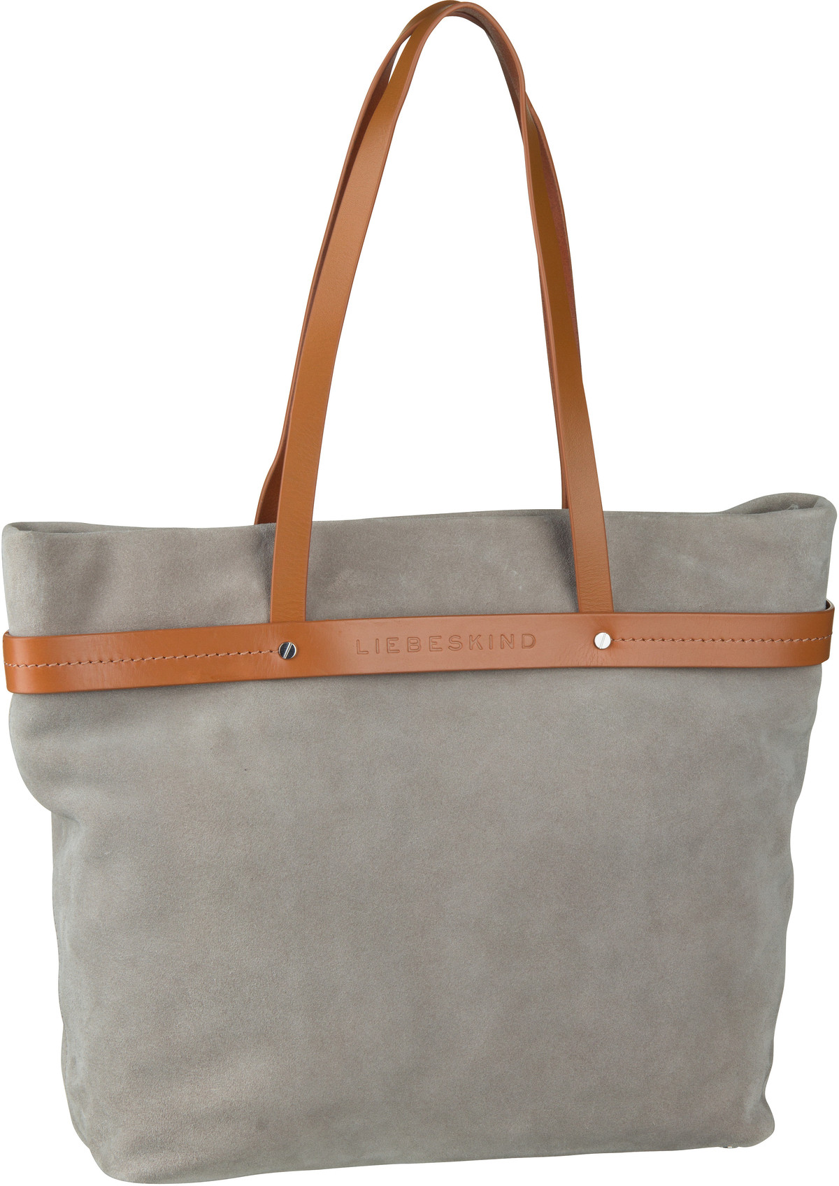 Berlin Shopper SoShopper Shopper L Suede String Grey