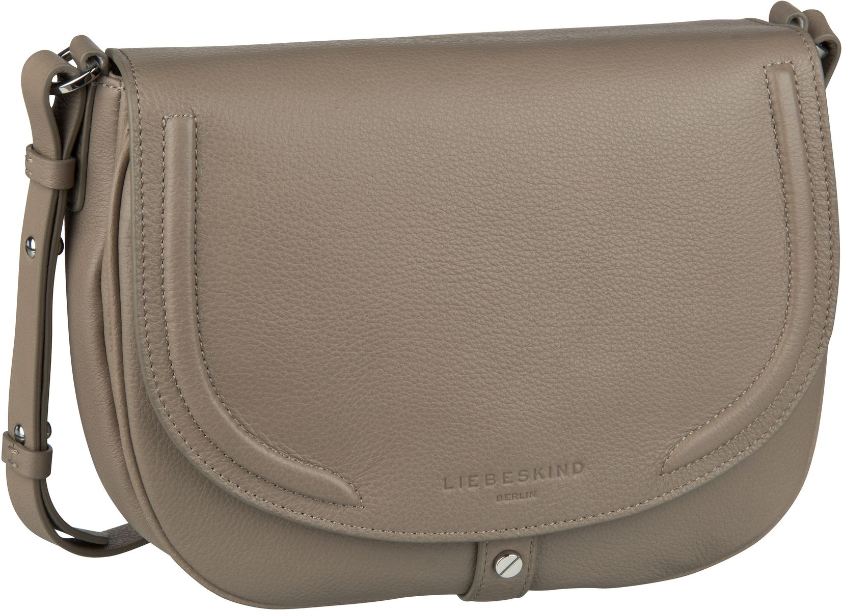 Berlin Umhängetasche Round Love Note Crossbody M Taupe