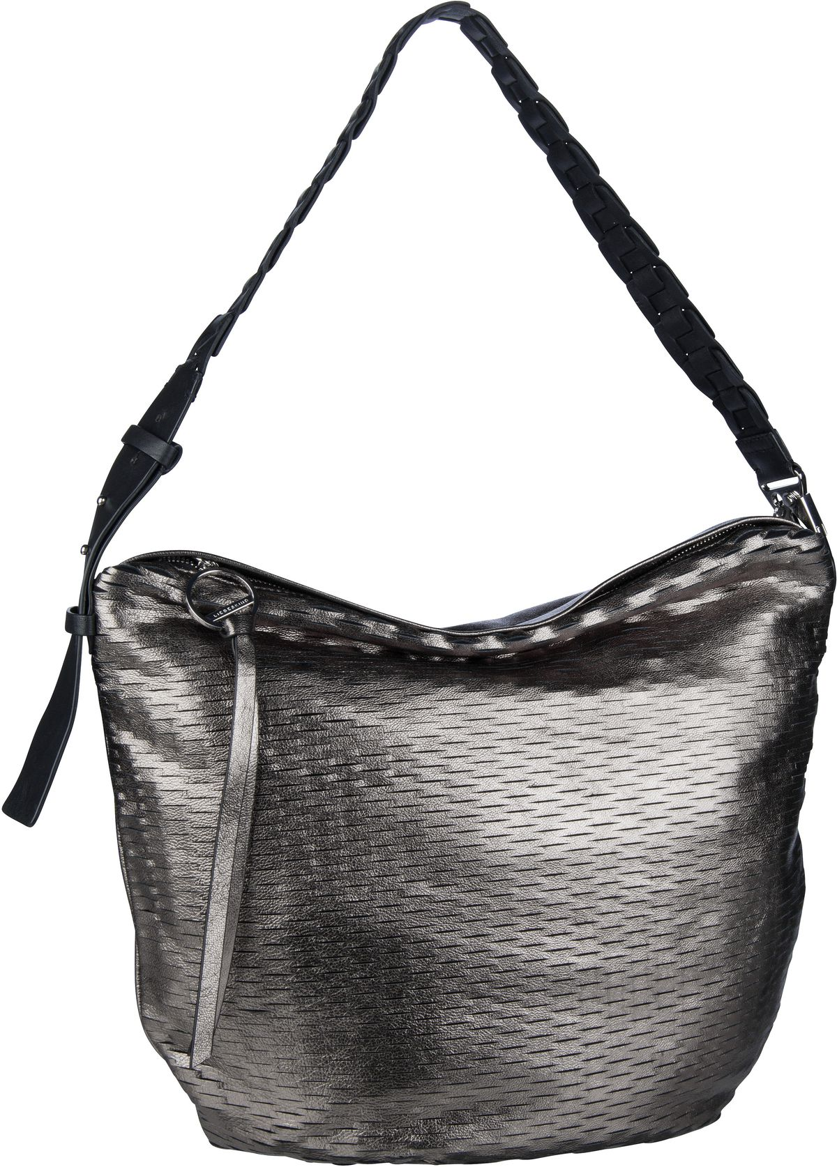Berlin Handtasche Dive Bag 2 Metallic Hobo M Warm Silver