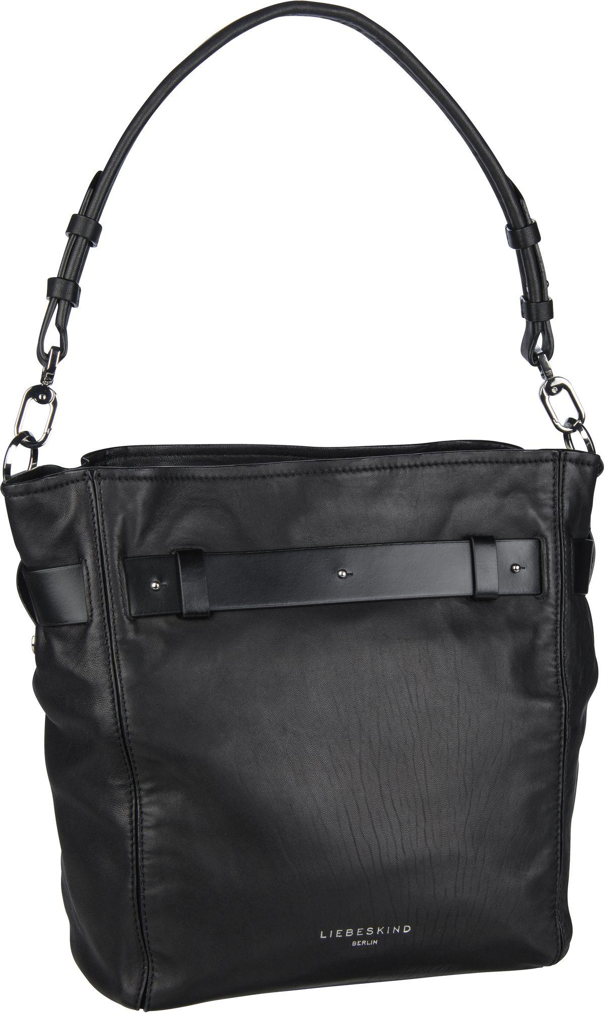 Berlin Handtasche Soft Bucket Hobo M Black