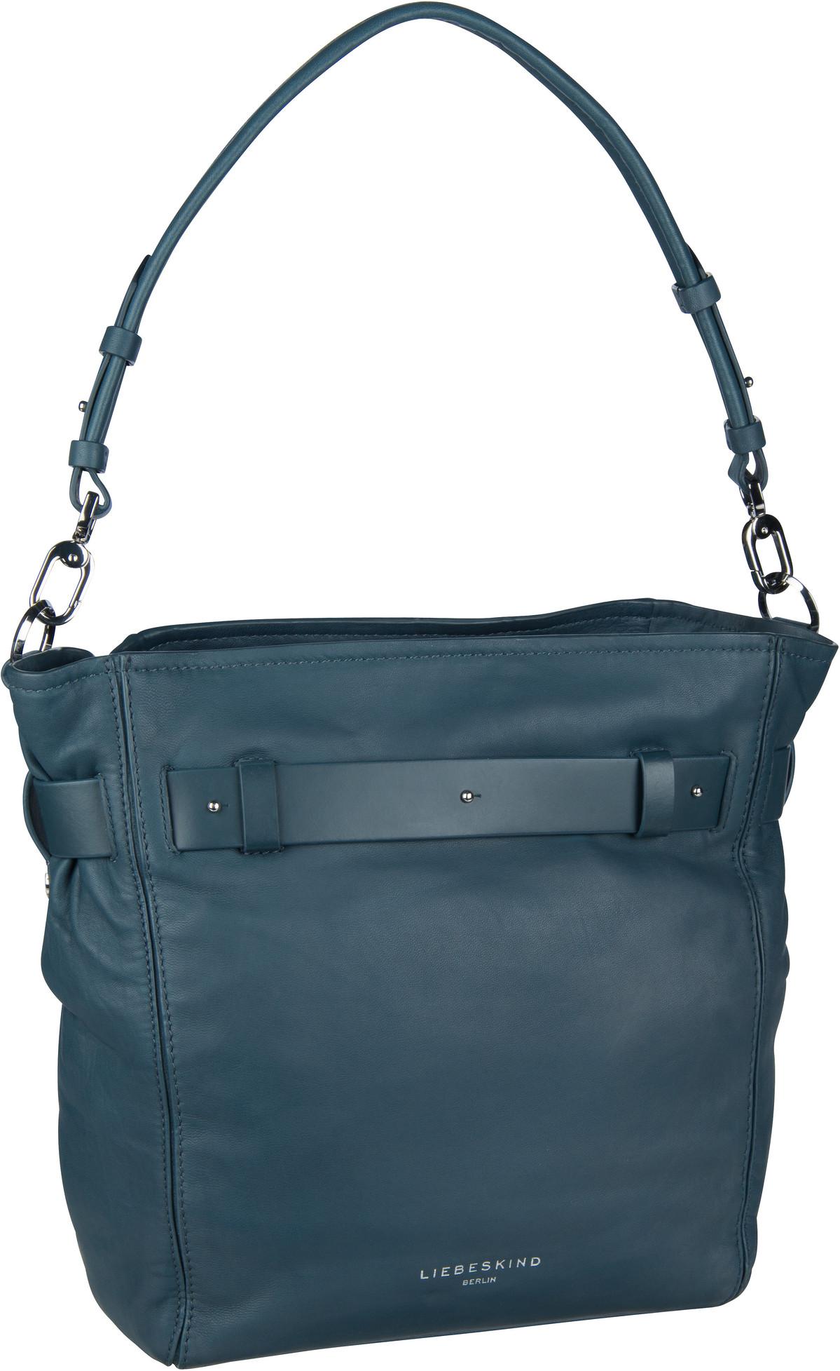 Berlin Handtasche Soft Bucket Hobo M China Blue