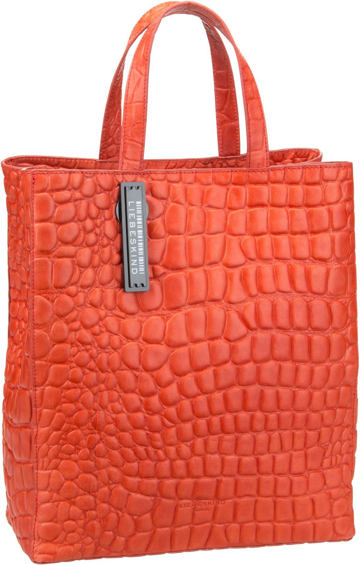 Berlin Shopper Paper Bag Croco Tote M Pumpkin