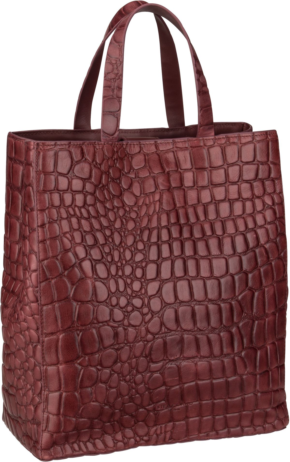 Berlin Shopper Paper Bag Croco Tote M Red Wine