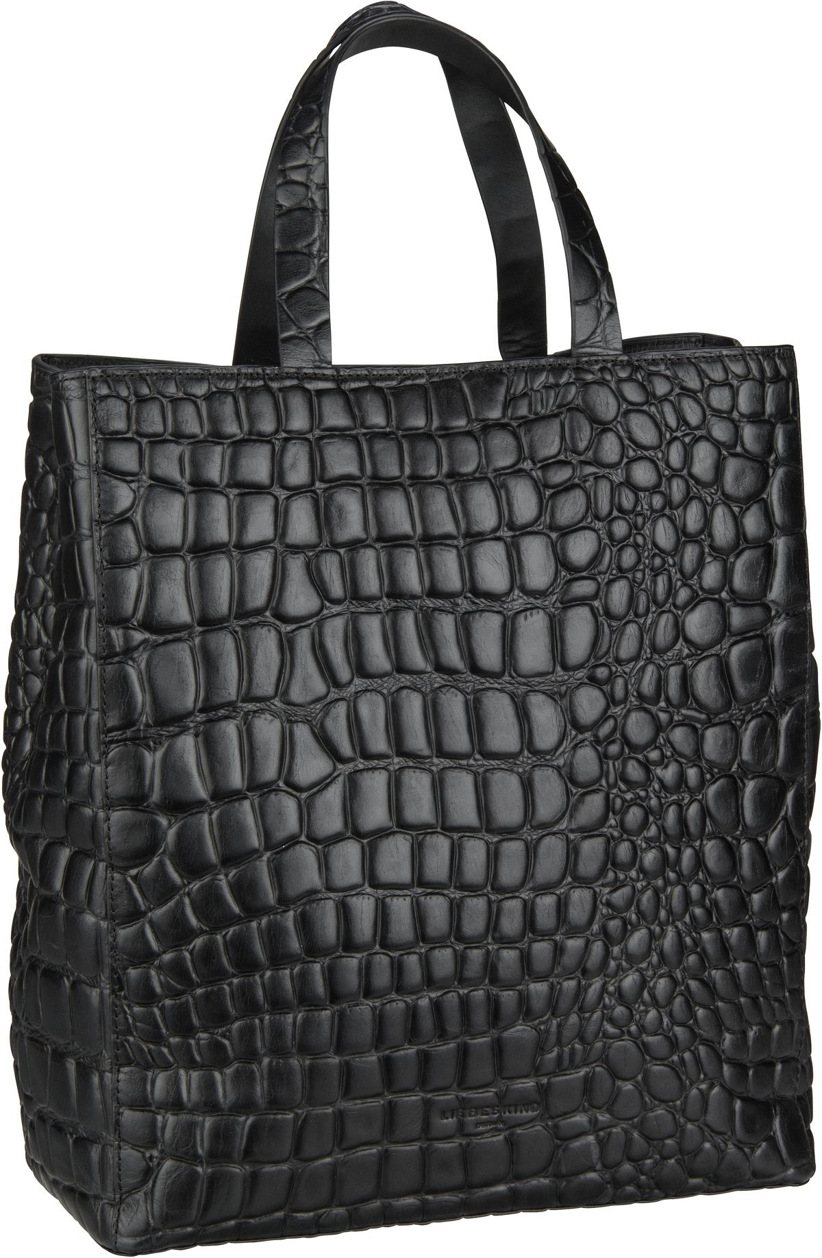 Berlin Shopper Paper Bag Croco Tote M Black