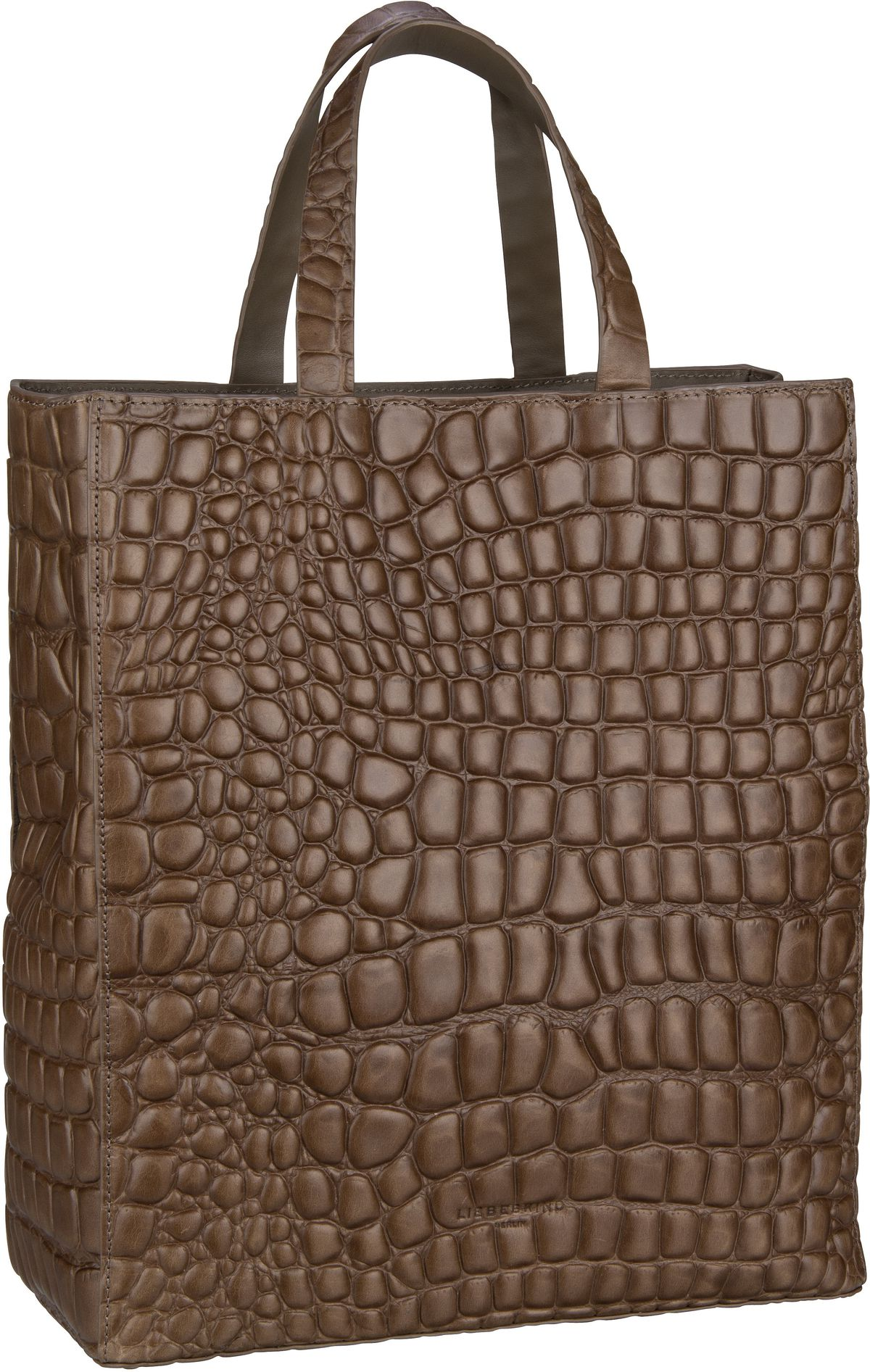 Berlin Shopper Paper Bag Croco Tote M Taupe