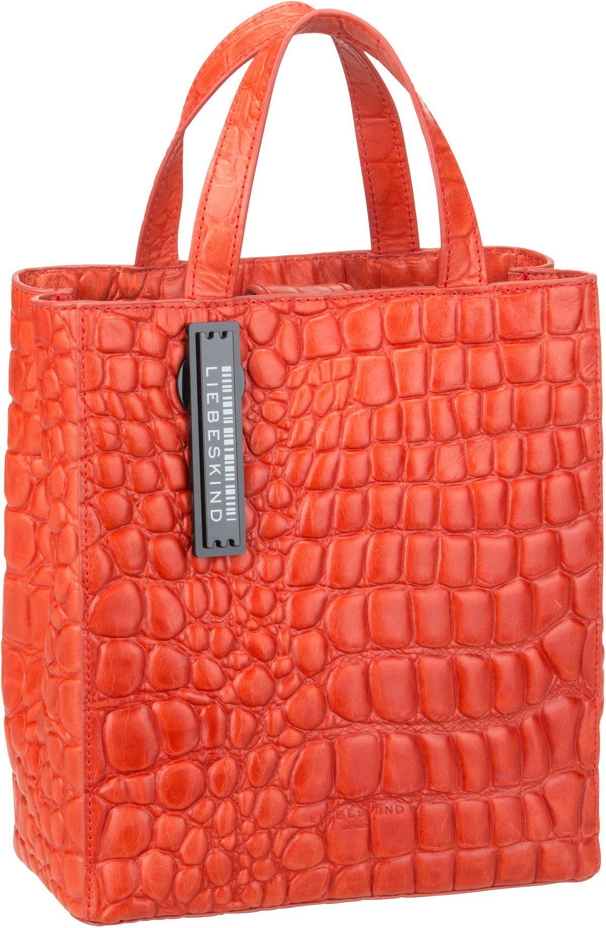 Berlin Handtasche Paper Bag Croco Tote S Pumpkin