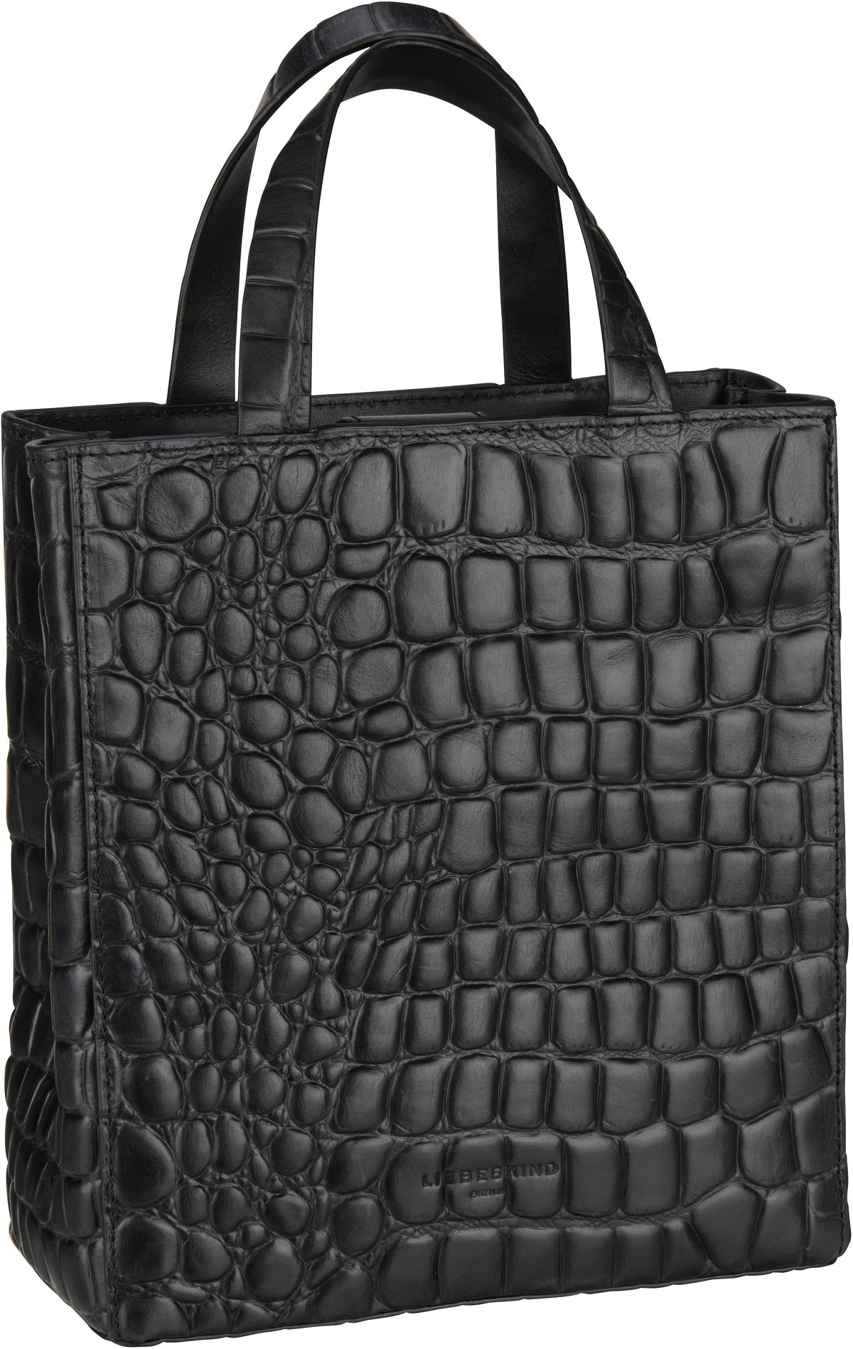 Berlin Handtasche Paper Bag Croco Tote S Black