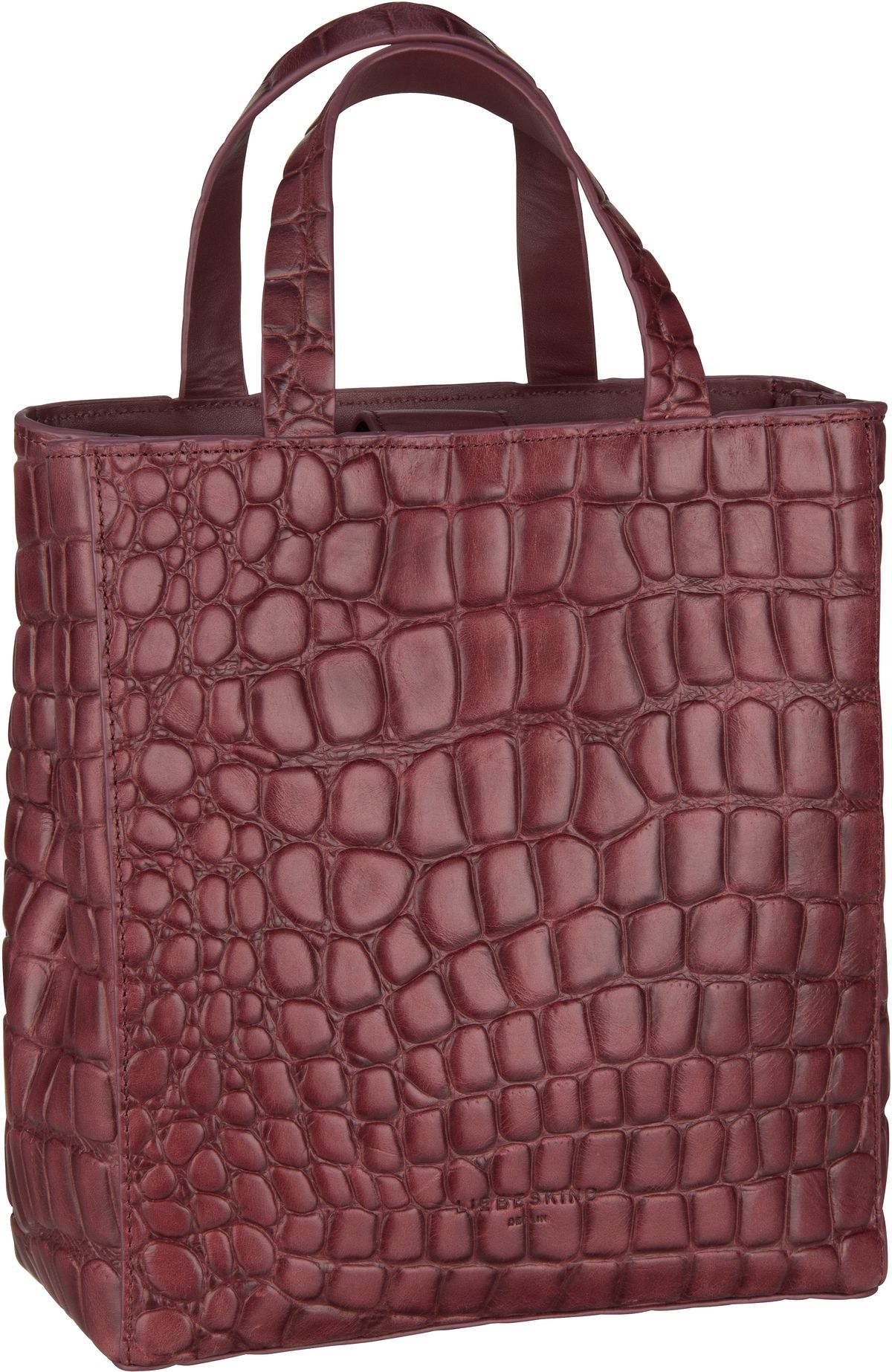 Berlin Handtasche Paper Bag Croco Tote S Red Wine