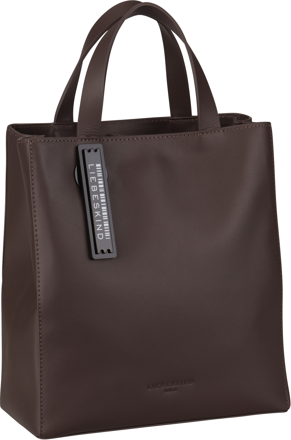 Berlin Handtasche Paper Bag Tote S Dark Brown