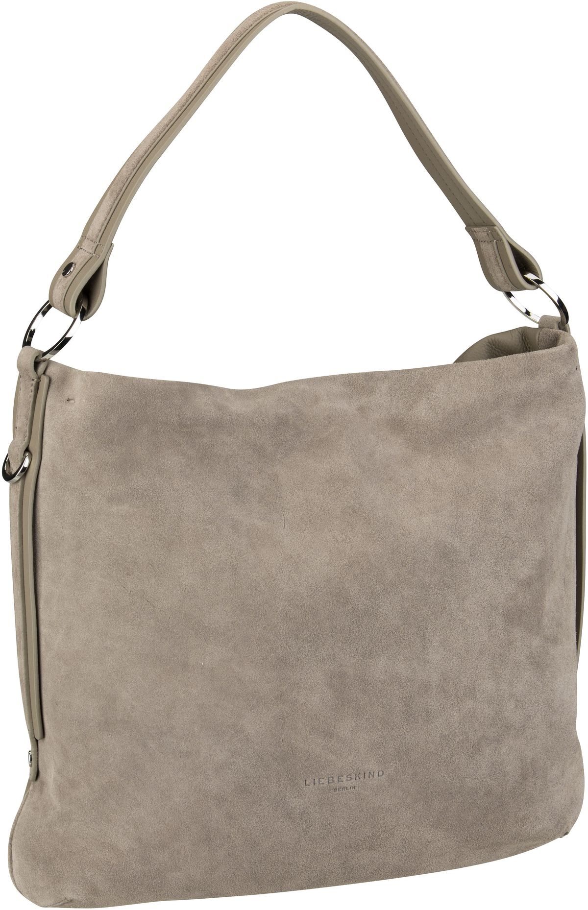Berlin Handtasche Slouchy Base Suede Hobo M Taupe