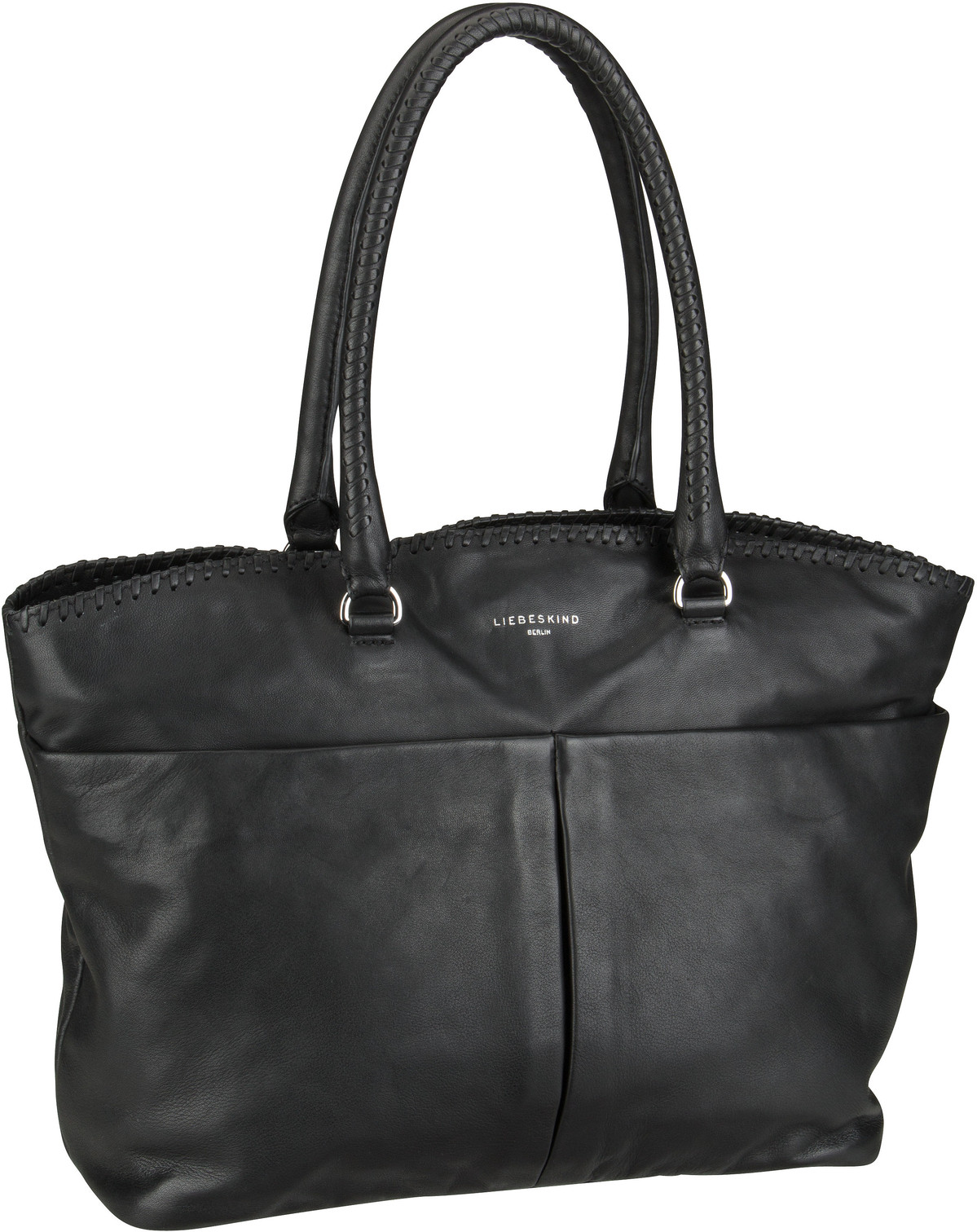 Berlin Handtasche Pleat Shopper L Black