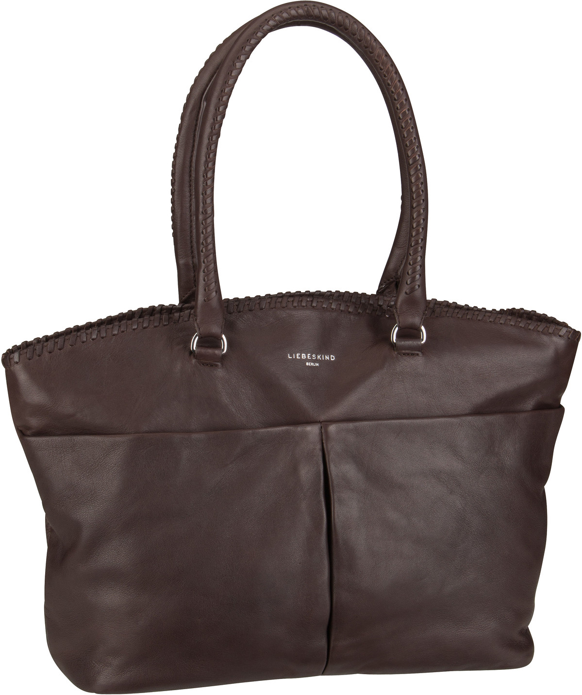 Berlin Handtasche Pleat Shopper L Dark Brown