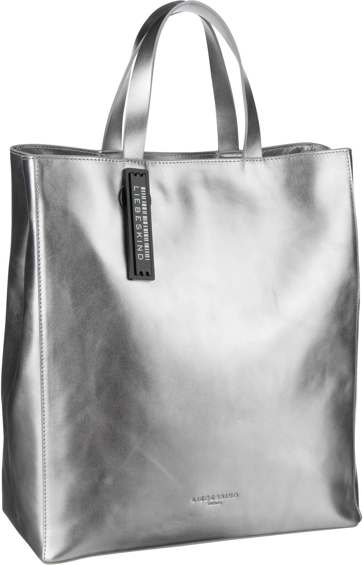 Berlin Handtasche Metallic Paper Bag Tote M Silver