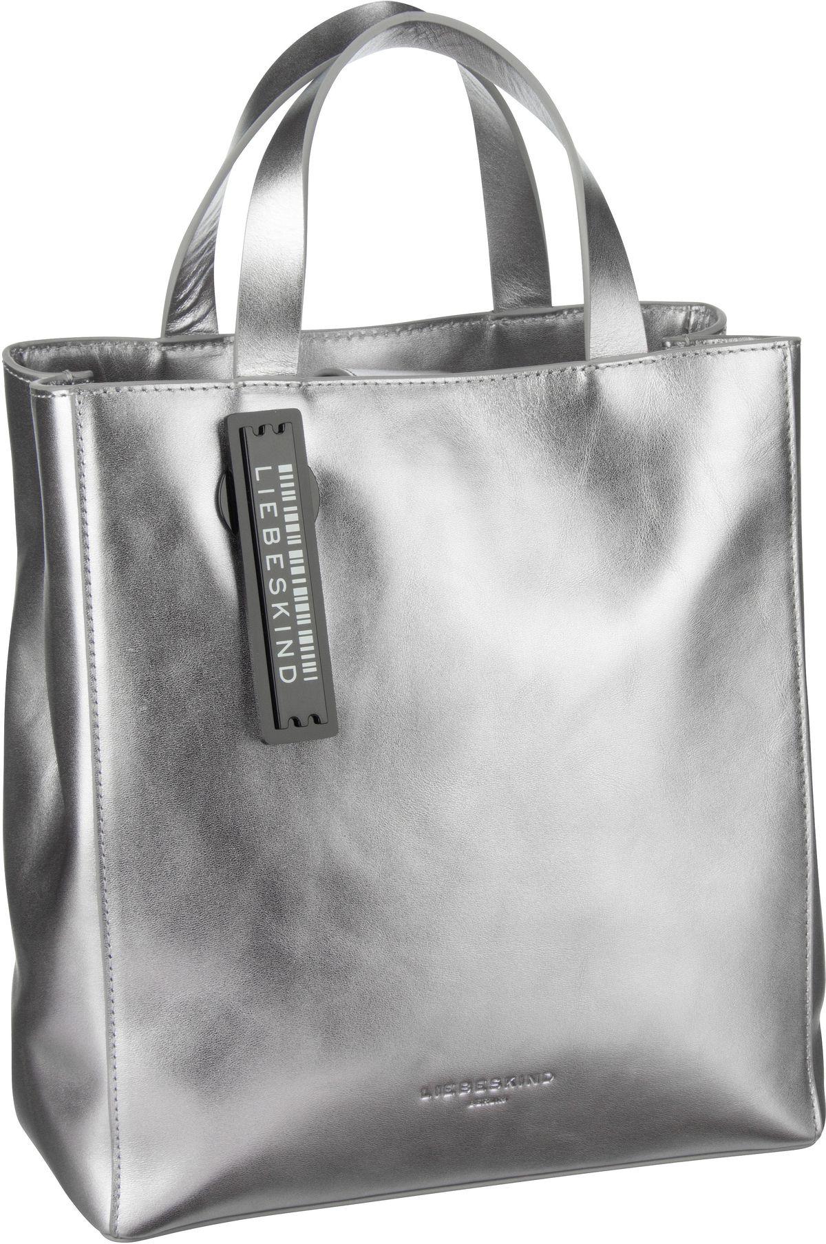 Berlin Handtasche Metallic Paper Bag Tote S Silver