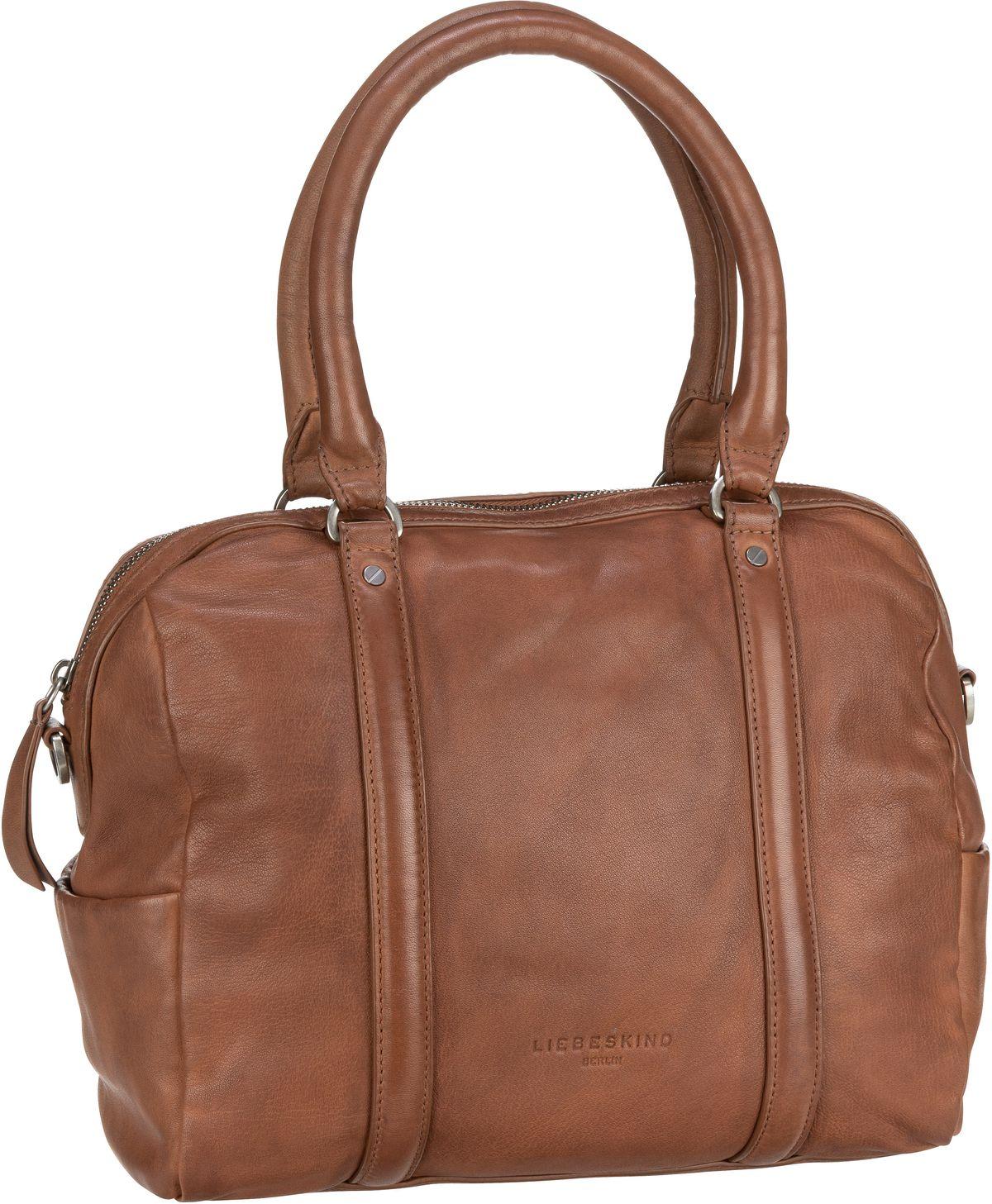Berlin Handtasche Oak Bowling Bag M Caramel