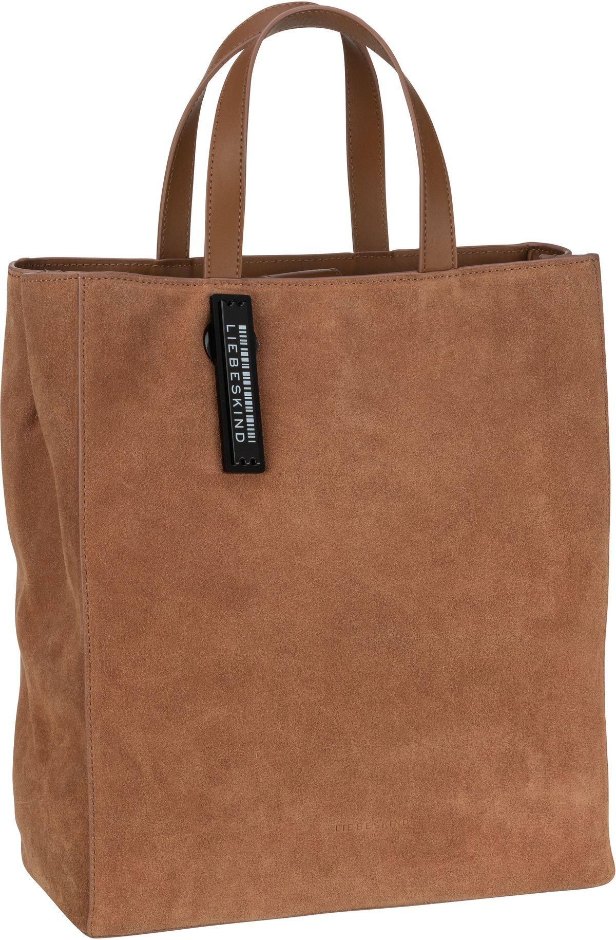 Berlin Shopper Paper Bag M Suede Caramel