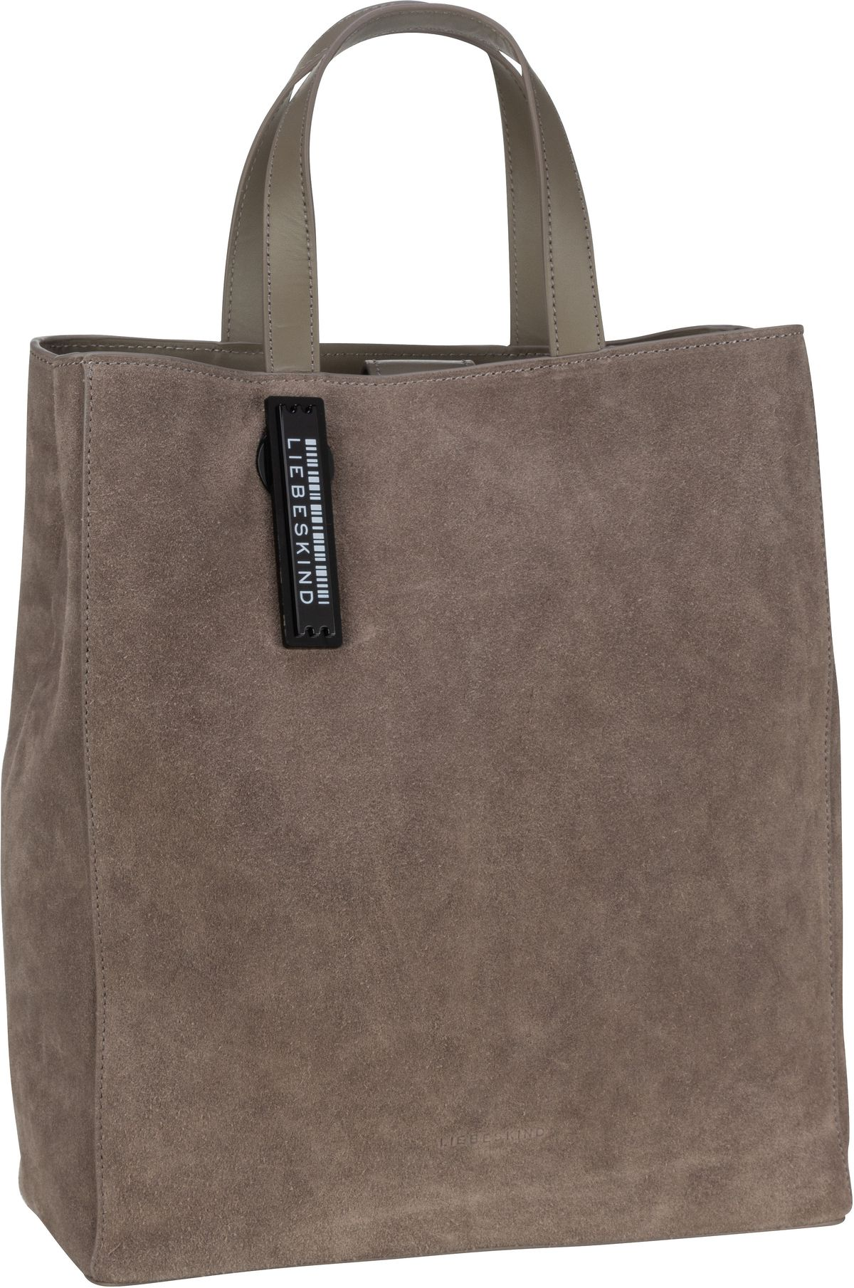 Berlin Shopper Paper Bag M Suede Light Cement