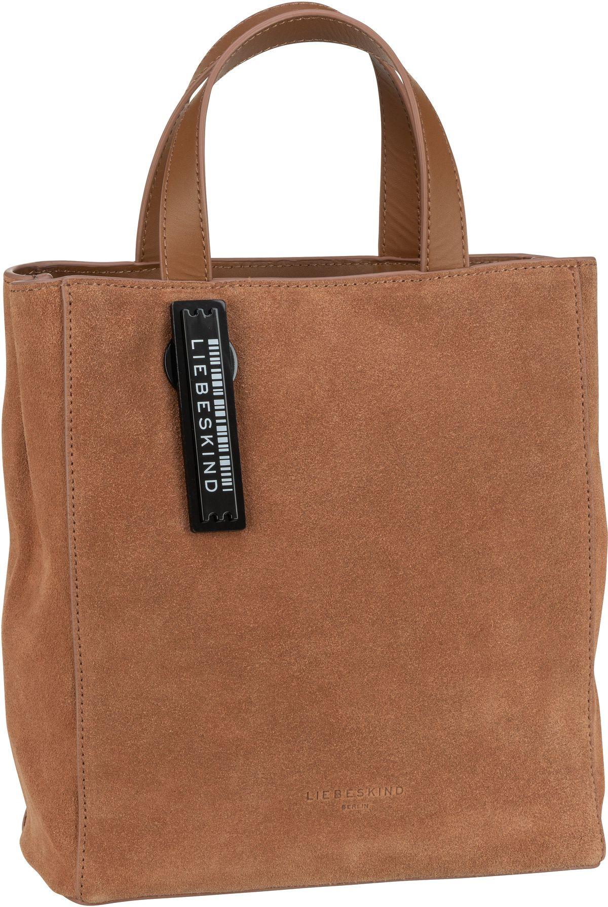 Berlin Handtasche Paper Bag S Suede Caramel