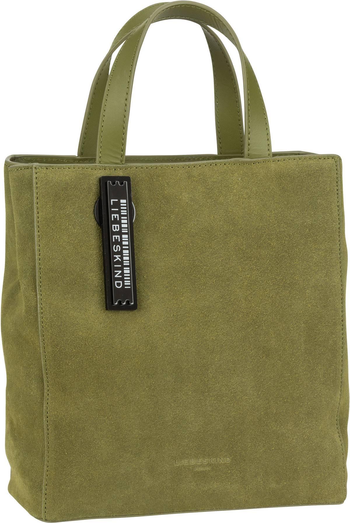 Berlin Handtasche Paper Bag S Suede Moss