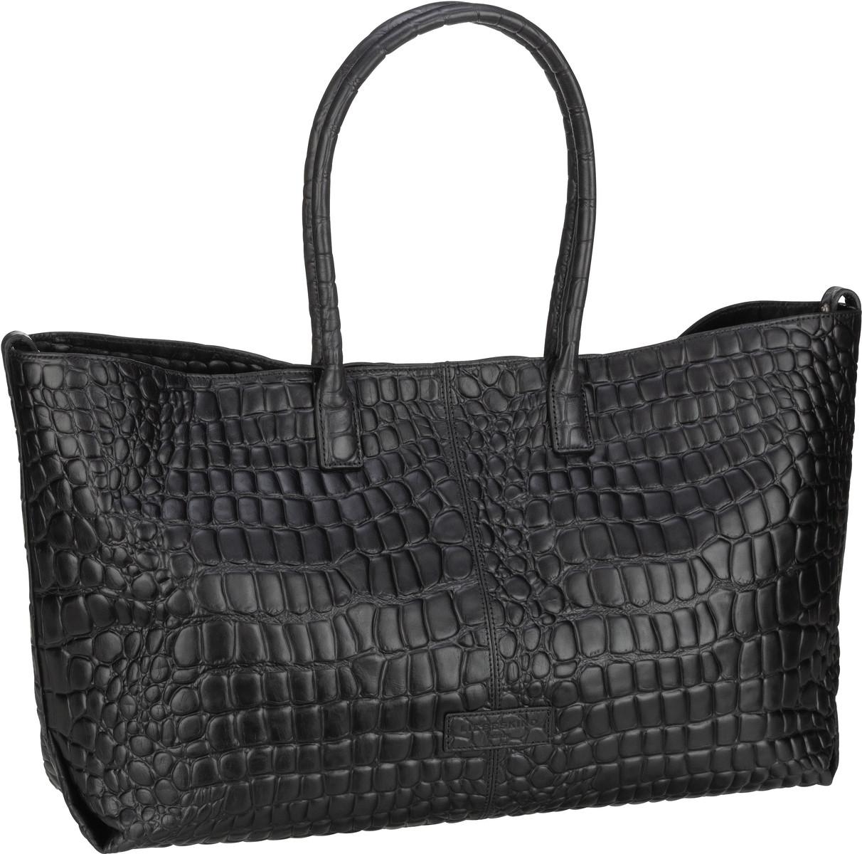 Berlin Handtasche Malibu 2 Chelsea Shopper L Croco Black
